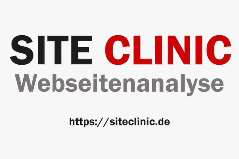 Site Clinic Webseitenanalyse